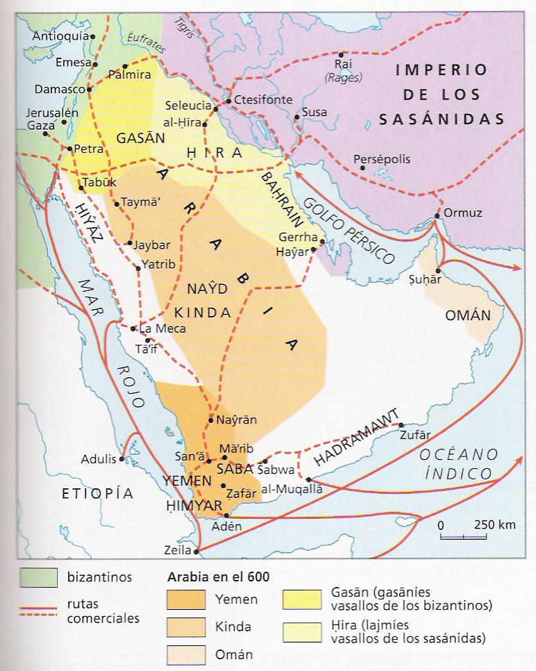 Desierto De Arabia Mapa Hegira Map